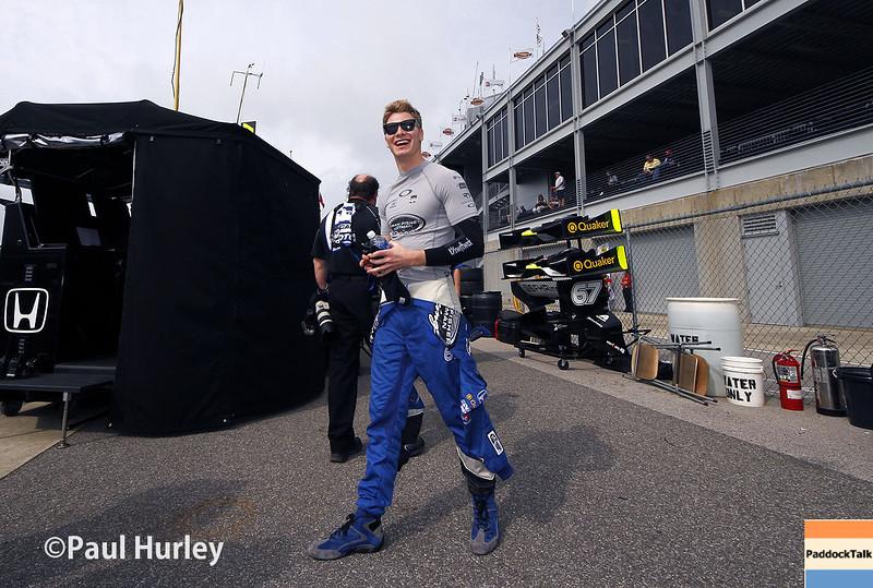 April 27: Josef Newgarden during the Honda Grand Prix of Alabama.