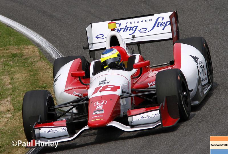 April 27: Justin Wilson during the Honda Grand Prix of Alabama.