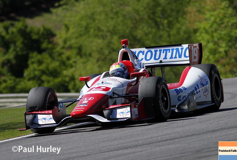 April 26: Justin Wilson during qualifying for the Honda Grand Prix of Alabama.