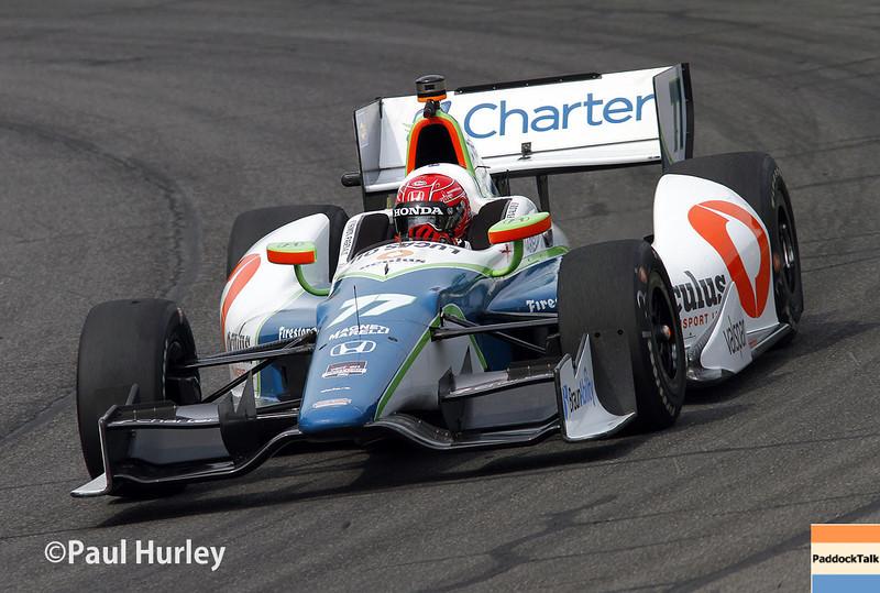 April 27: Simon Pagenaud during the Honda Grand Prix of Alabama.