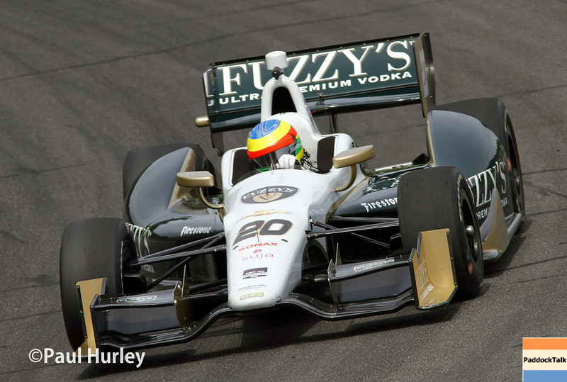 April 27: Mike Conway during the Honda Grand Prix of Alabama.