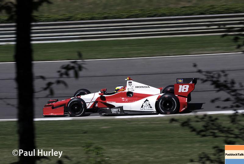 April 26: Carlos Huertas during qualifying for the Honda Grand Prix of Alabama.