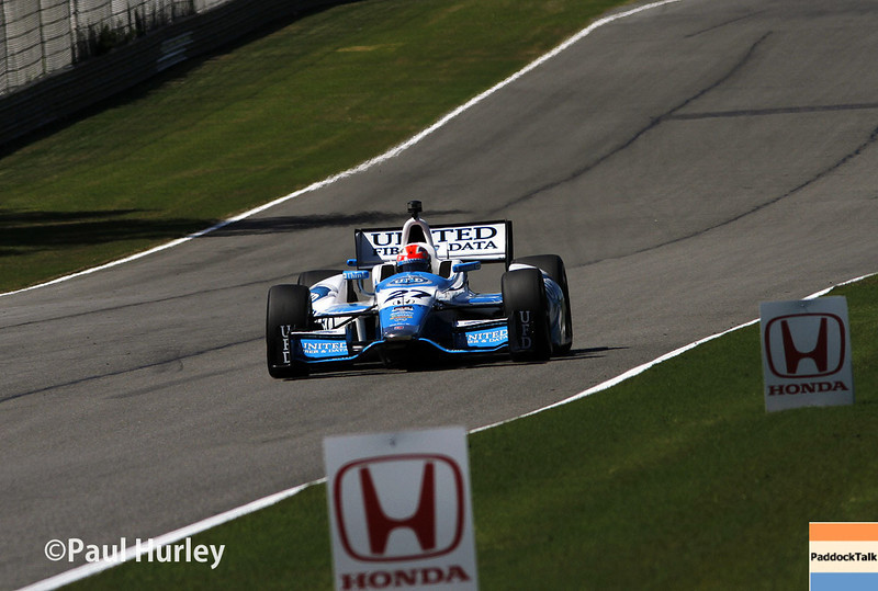 April 26: James Hinchcliffe during qualifying for the Honda Grand Prix of Alabama.
