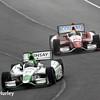 April 27: Carlos Munoz and Justin Wilson during the Honda Grand Prix of Alabama.