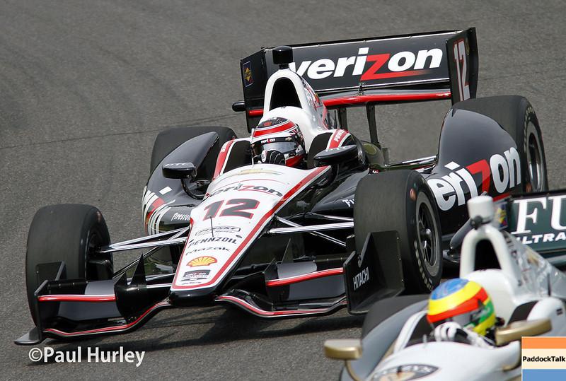 April 27: Will Power during the Honda Grand Prix of Alabama.