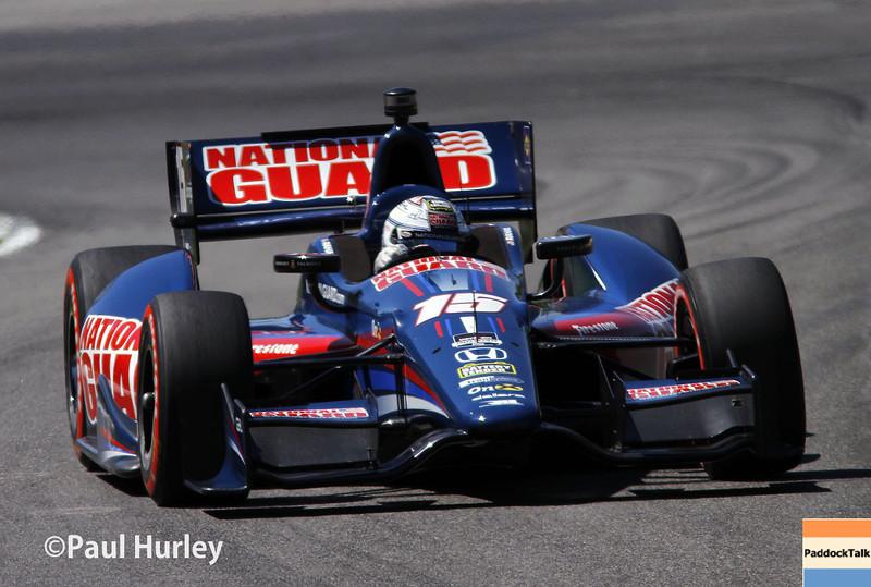April 26: Graham Rahal during qualifying for the Honda Grand Prix of Alabama.