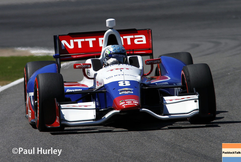 April 26: Ryan Briscoe during qualifying for the Honda Grand Prix of Alabama.