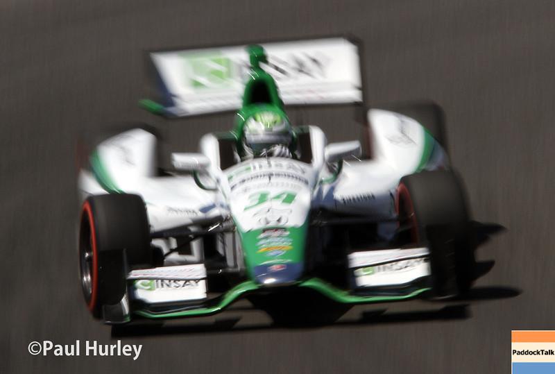 April 26: Carlos Munoz during qualifying for the Honda Grand Prix of Alabama.