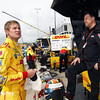 April 27: Ryan Hunter-Reay and Michael Andretti during the Honda Grand Prix of Alabama.