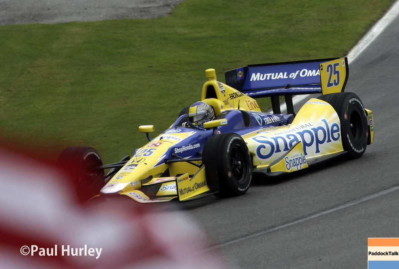 April 27: Marco Andretti during the Honda Grand Prix of Alabama.