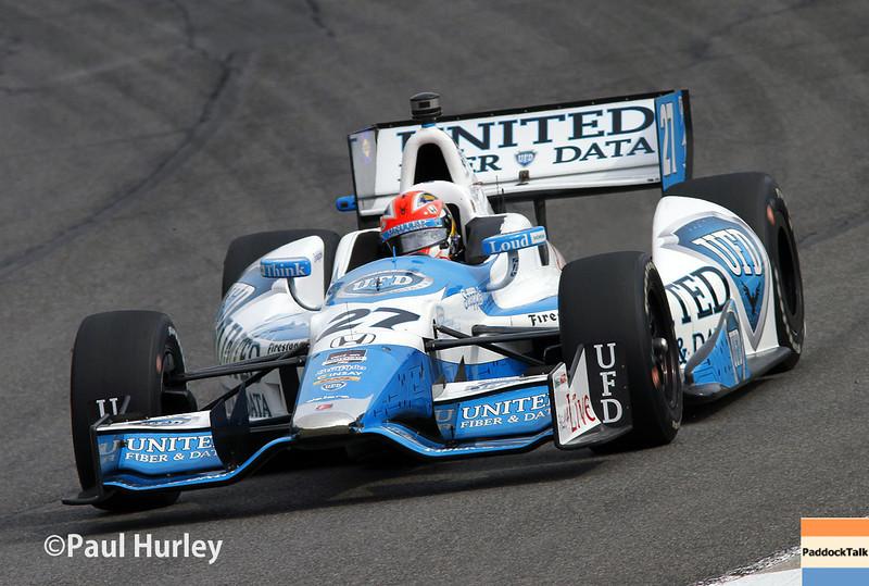 April 27: James Hinchcliffe during the Honda Grand Prix of Alabama.