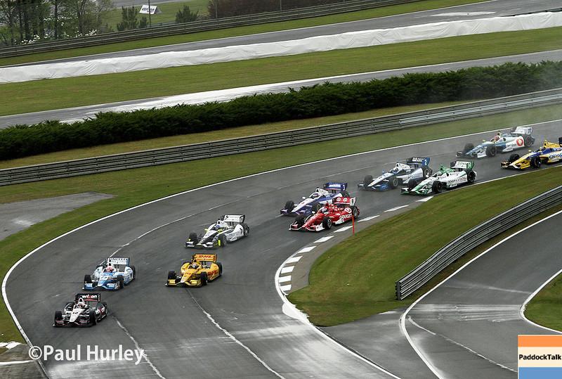 April 27: Race start during the Honda Grand Prix of Alabama.
