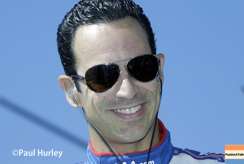 April 26: Helio Castroneves during qualifying for the Honda Grand Prix of Alabama.