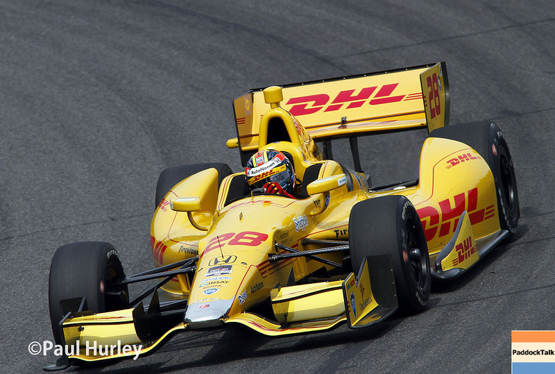 April 27: Ryan Hunter-Reay during the Honda Grand Prix of Alabama.