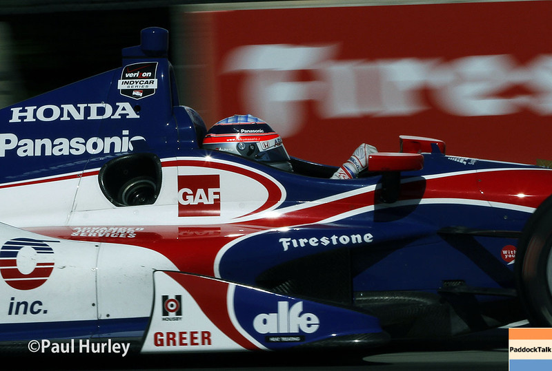 June 1: Takuma Sato during Race 2 of the Chevrolet Detroit Belle Isle Grand Prix.