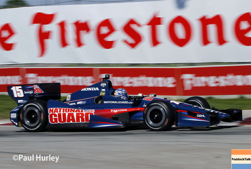 June 1: Graham Rahal during Race 2 of the Chevrolet Detroit Belle Isle Grand Prix.