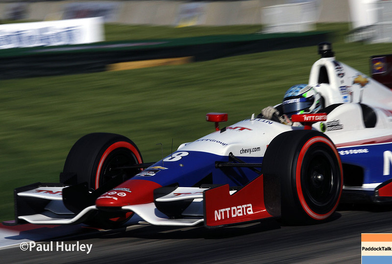 May 31: Ryan Briscoe during qualifying for Race 1 of the Chevrolet Detroit Belle Isle Grand Prix.