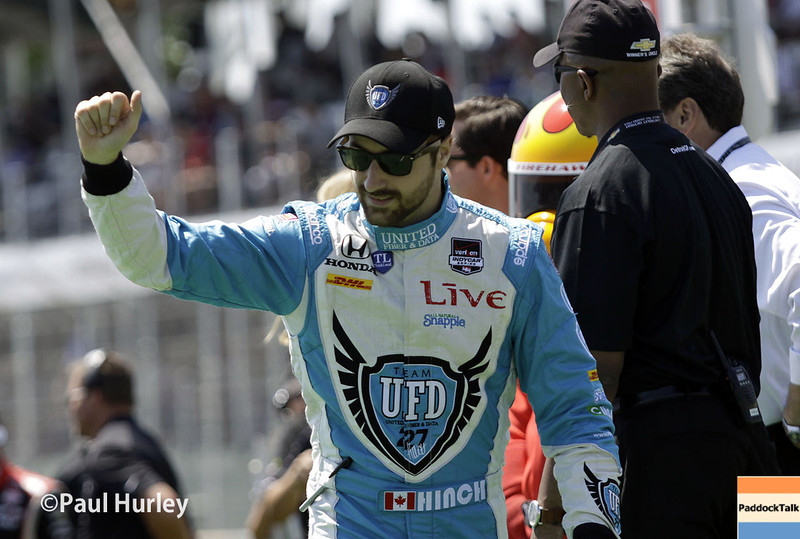 May 31: James Hinchcliffe before Race 1 of the Chevrolet Detroit Belle Isle Grand Prix.