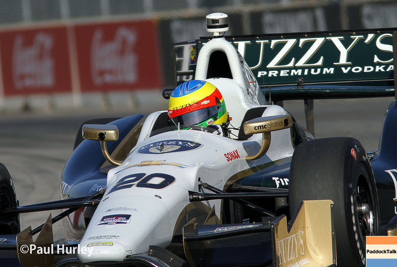May 31: Mike Conway during qualifying for Race 1 of the Chevrolet Detroit Belle Isle Grand Prix.