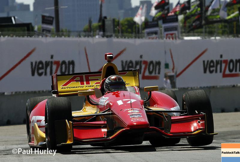 May 30: Sebastian Saavedra during practice for the Chevrolet Detroit Belle Isle Grand Prix.