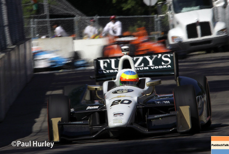 June 1: Mike Conway during Race 2 of the Chevrolet Detroit Belle Isle Grand Prix.