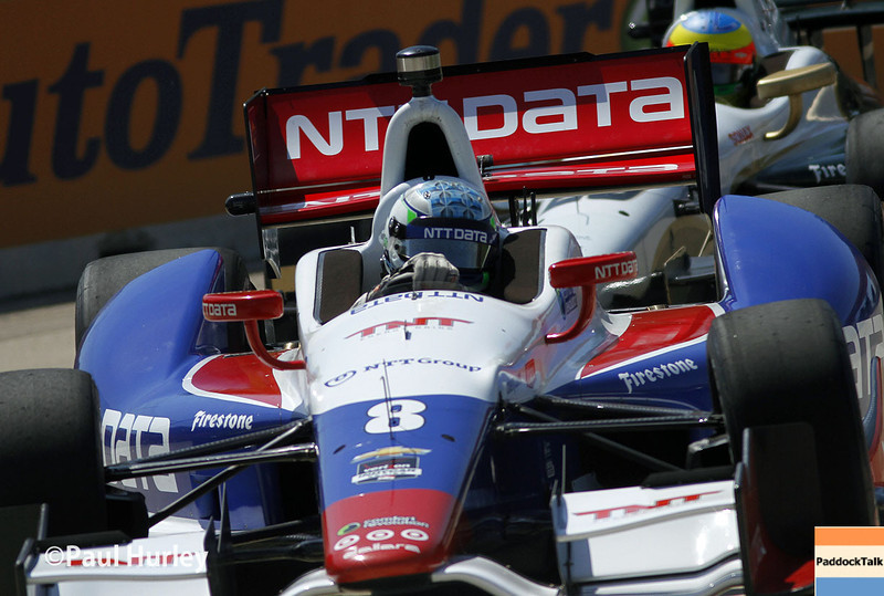 May 30: Ryan Briscoe during practice for the Chevrolet Detroit Belle Isle Grand Prix.