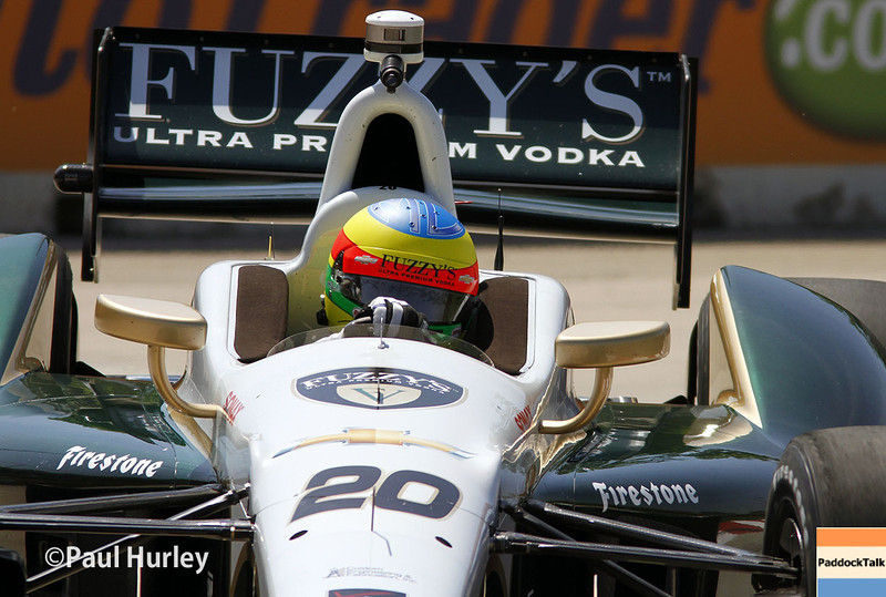May 30:Mike Conway during practice for the Chevrolet Detroit Belle Isle Grand Prix.
