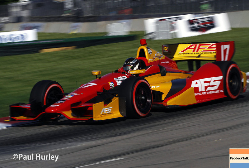 May 31: Sebastian Saavedra during qualifying for Race 1 of the Chevrolet Detroit Belle Isle Grand Prix.