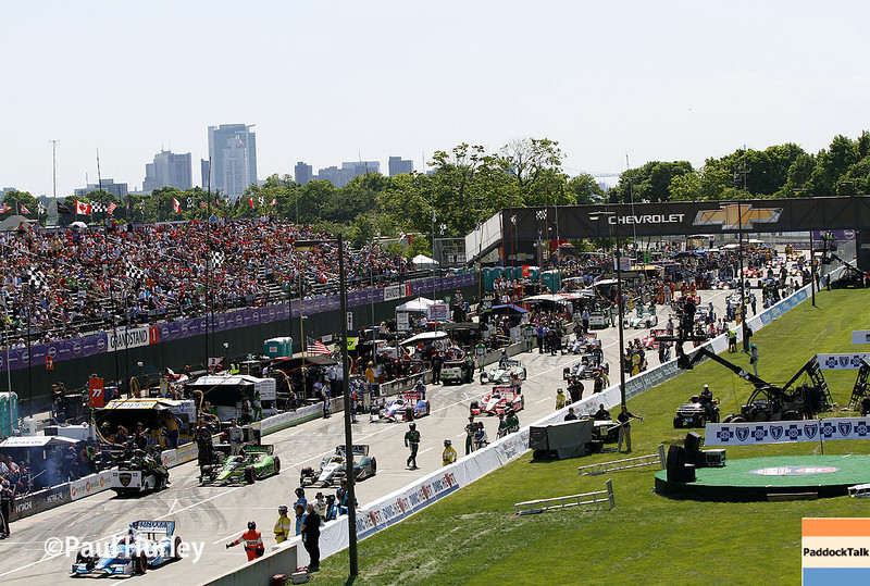 May 31: Gridded pit before Race 1 of the Chevrolet Detroit Belle Isle Grand Prix.