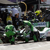 May 31: Carlos Munoz pit stop during Race 1 of the Chevrolet Detroit Belle Isle Grand Prix.