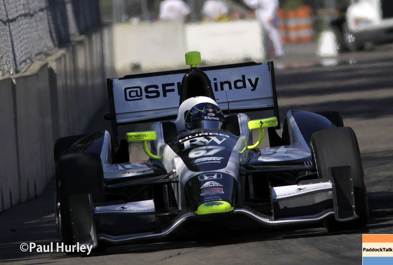 June 1: Josef Newgarden during Race 2 of the Chevrolet Detroit Belle Isle Grand Prix.
