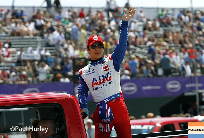 June 1: Takuma Sato before Race 2 of the Chevrolet Detroit Belle Isle Grand Prix.