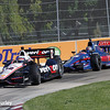 May 31: Will Power and Graham Rahal during Race 1 of the Chevrolet Detroit Belle Isle Grand Prix.