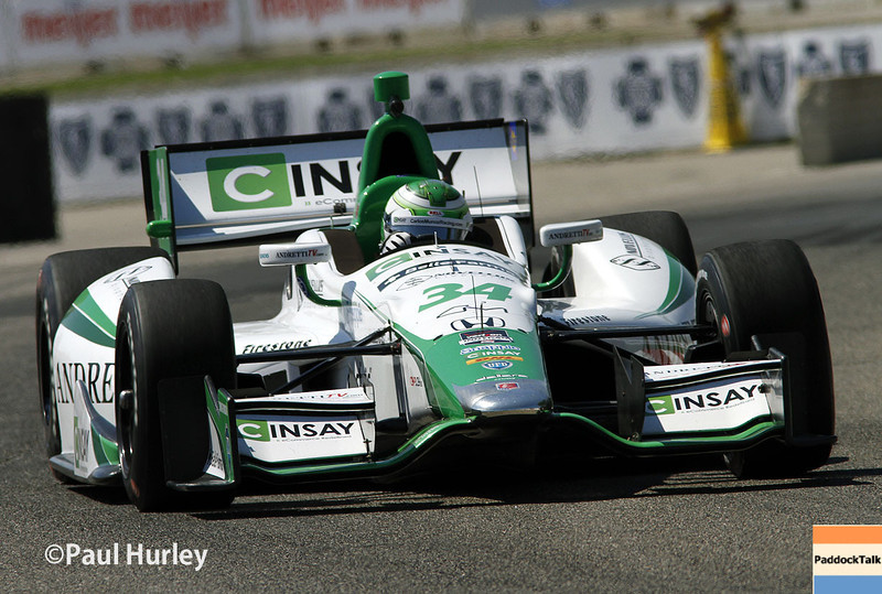 May 30: Carlos Munoz during practice for the Chevrolet Detroit Belle Isle Grand Prix.