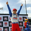 May 31: Takuma Sato after winning pole for Race 1 of the Chevrolet Detroit Belle Isle Grand Prix.