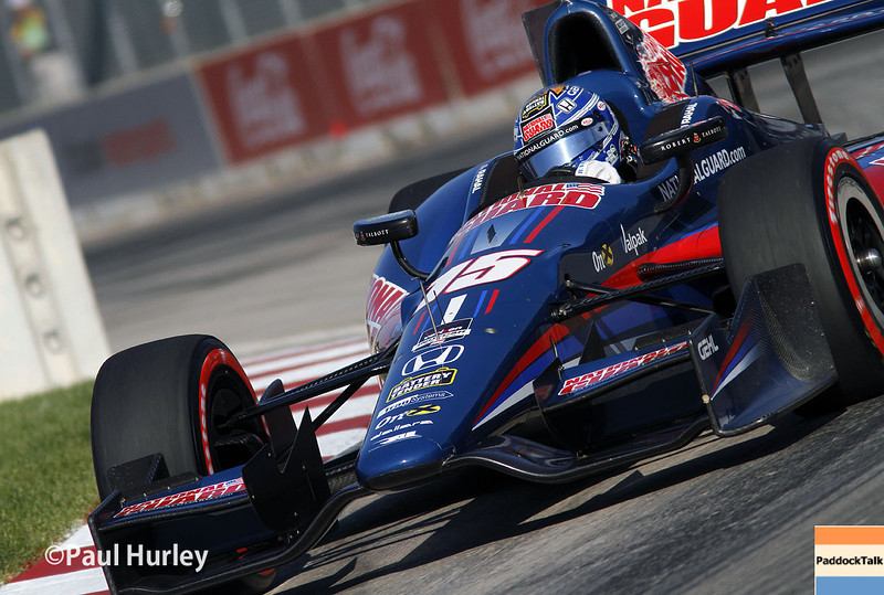 May 31: Graham Rahal during qualifying for Race 1 of the Chevrolet Detroit Belle Isle Grand Prix.
