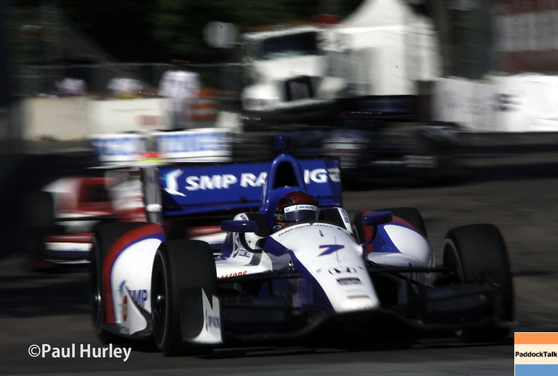June 1: Mikhail Aleshin during Race 2 of the Chevrolet Detroit Belle Isle Grand Prix.