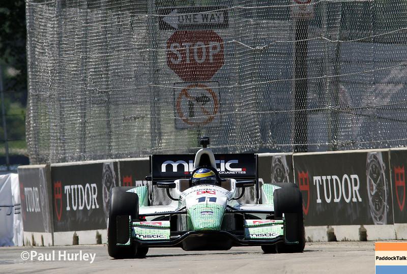 May 30: Sebastien Bourdais during practice for the Chevrolet Detroit Belle Isle Grand Prix.