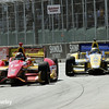 May 31: Sebastian Saavedra and Marco Andretti during Race 1 of the Chevrolet Detroit Belle Isle Grand Prix.