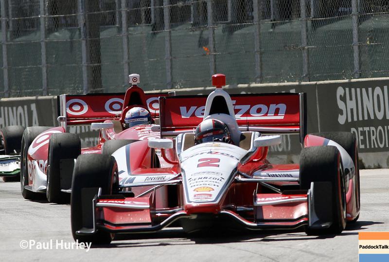 May 31: Juan Montoya during Race 1 of the Chevrolet Detroit Belle Isle Grand Prix.
