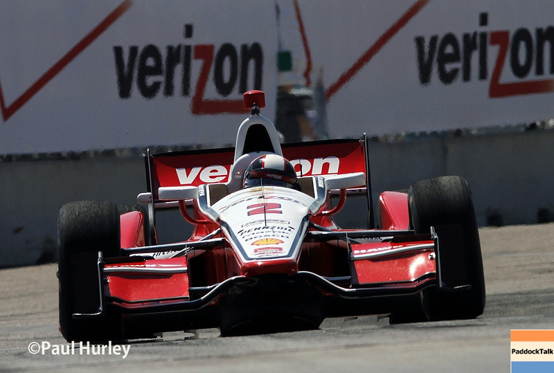 May 30: Juan Montoya during practice for the Chevrolet Detroit Belle Isle Grand Prix.