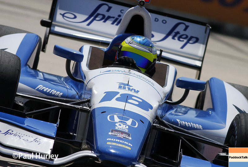 May 30: Carlos Huertas during practice for the Chevrolet Detroit Belle Isle Grand Prix.