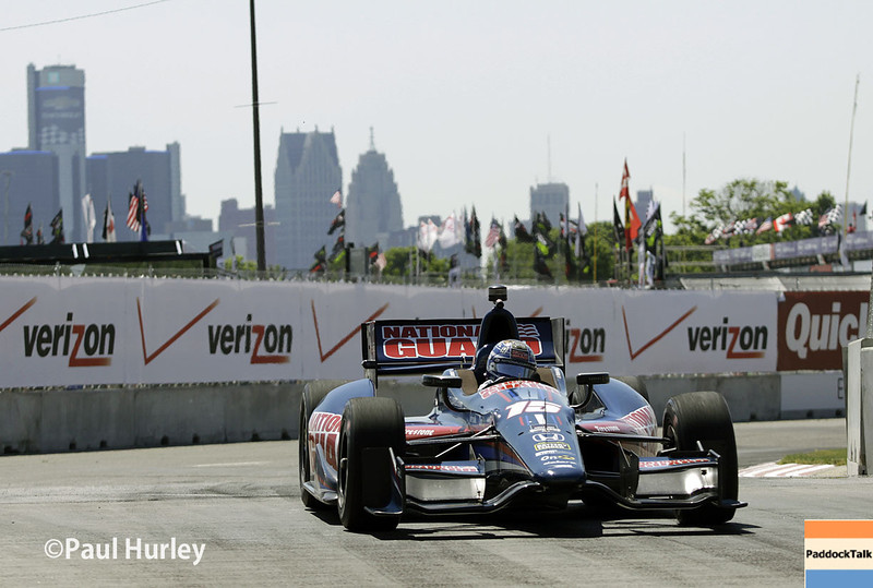 May 30: Graham Rahal during practice for the Chevrolet Detroit Belle Isle Grand Prix.