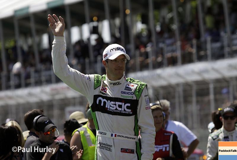 May 31: Sebastien Bourdais before Race 1 of the Chevrolet Detroit Belle Isle Grand Prix.