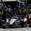 June 1: Helio Castroneves pit stop during Race 2 of the Chevrolet Detroit Belle Isle Grand Prix.