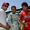 May 31: Carlos Huertas, Carlos Munoz and Sebastian Saavedra before Race 1 of the Chevrolet Detroit Belle Isle Grand Prix.