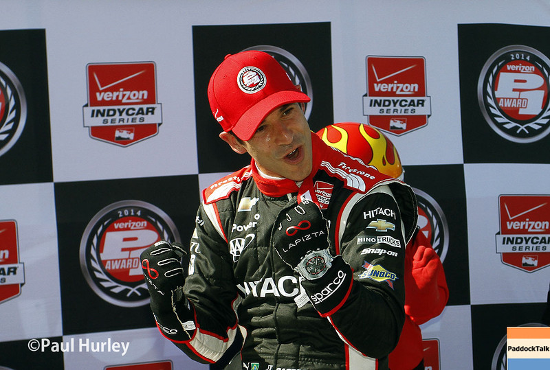 Helio Castroneves will start from Pole for the Chevrolet Duel In Detroit.