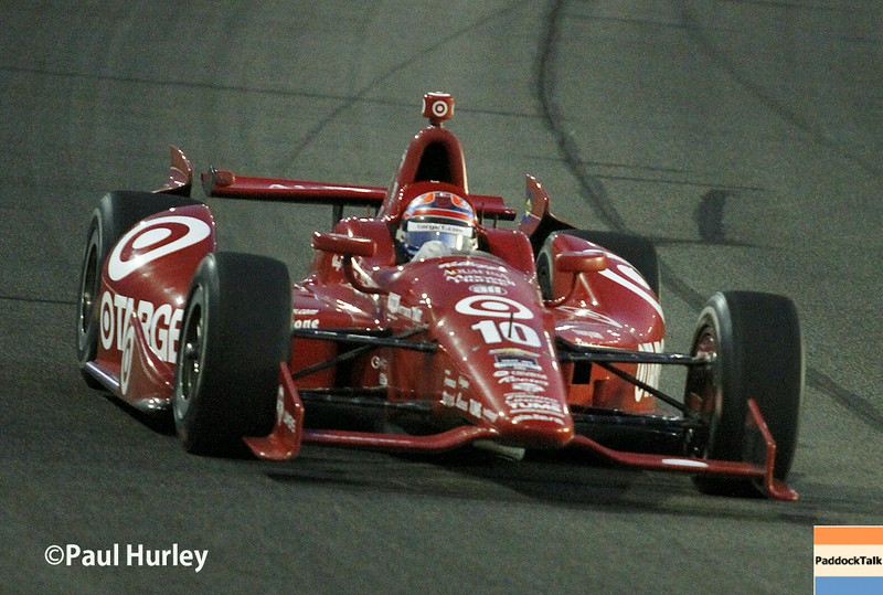 August 30:Tony Kanaan during the MAVTV 500 race at Auto Club Speedway.