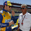 August 29: Marco Andretti and Mario Andretti during MAVTV 500 practice and qualifications at Auto Club Speedway.