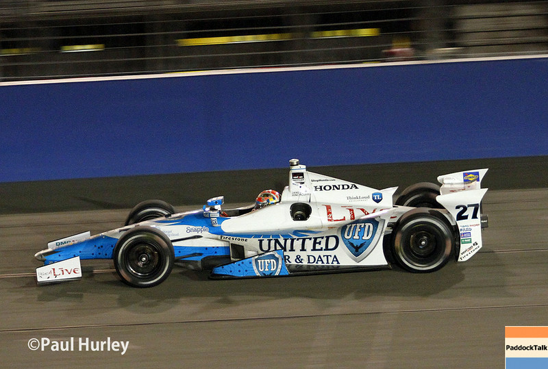 August 30:James Hinchcliffe during the MAVTV 500 race at Auto Club Speedway.